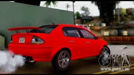 DeClasse Premier from GTA 5 IVF pour GTA San Andreas sur la vue arrière gauche