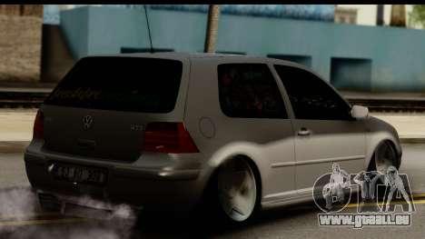 Volkswagen Golf 4 Tuning pour GTA San Andreas laissé vue
