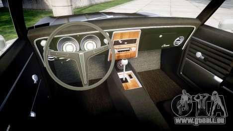 Chevrolet Camaro Mk.I 1968 rims2 für GTA 4 Rückansicht