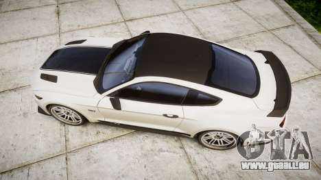 Ford Mustang GT 2015 Custom Kit black stripes gt für GTA 4 rechte Ansicht
