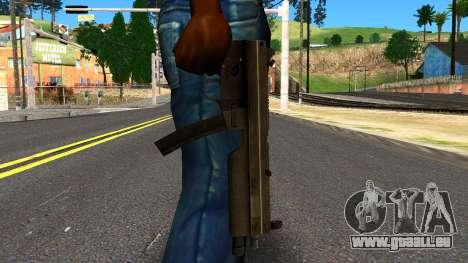 MP5 from GTA 4 für GTA San Andreas dritten Screenshot