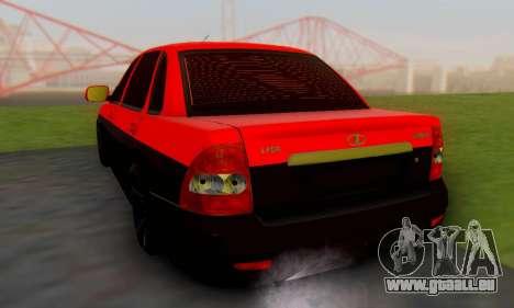 Lada Priora Glers Project pour GTA San Andreas laissé vue