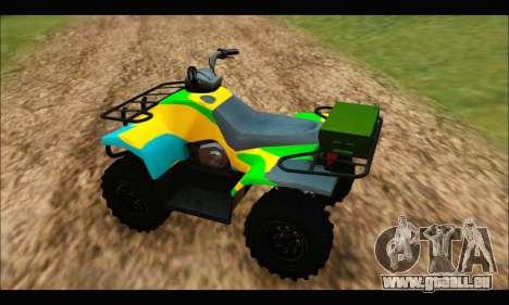 ATV Color Camo Army Edition pour GTA San Andreas sur la vue arrière gauche