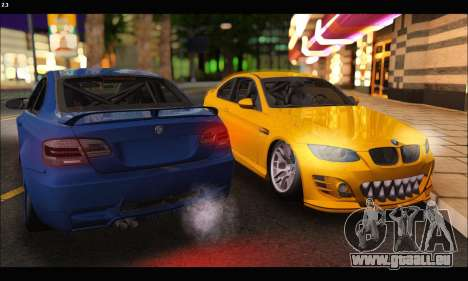 BMW M3 GTS 2010 pour GTA San Andreas vue de droite