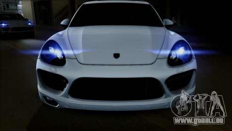 Porsche Cayenne Turbo 2012 pour GTA San Andreas vue intérieure
