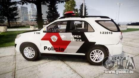 Toyota Hilux SW4 2015 Forca Tatica [ELS] pour GTA 4 est une gauche