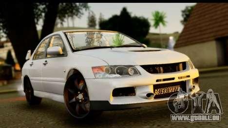 Mitsubishi Lancer Evo IX pour GTA San Andreas