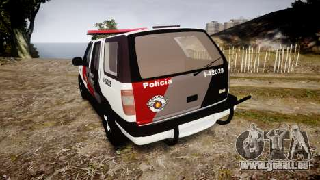 Chevrolet Blazer 2010 Tactical Force [ELS] für GTA 4 hinten links Ansicht