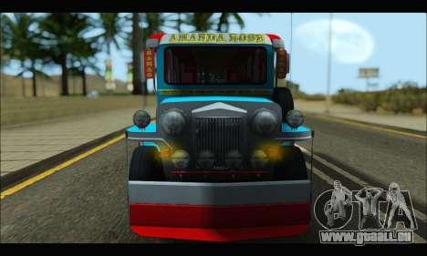Jeepney Legacy pour GTA San Andreas laissé vue