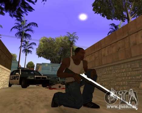 White Chrome Gun Pack pour GTA San Andreas
