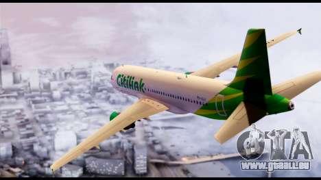 Citilink Airbus A320 PK-GLV für GTA San Andreas linke Ansicht