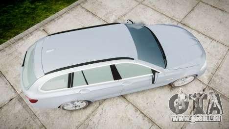 BMW 525d F11 2014 Facelift [ELS] Unmarked für GTA 4 rechte Ansicht
