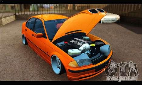 BMW e46 Sedan pour GTA San Andreas laissé vue