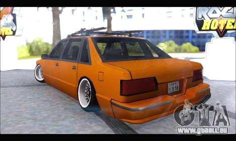 Taxi Extreme Tuning (Hellalfush) pour GTA San Andreas sur la vue arrière gauche