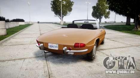 Alfa Romeo Spider 1966 pour GTA 4 Vue arrière de la gauche