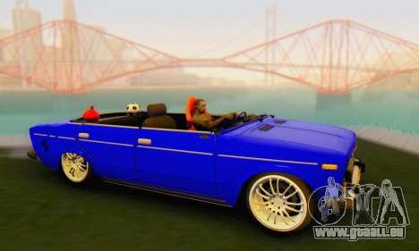 VAZ 2106 Convertible für GTA San Andreas zurück linke Ansicht