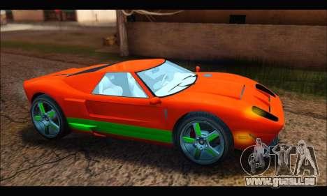 Vapid Bullet Gt (GTA IV TBoGT) (IVF) pour GTA San Andreas sur la vue arrière gauche
