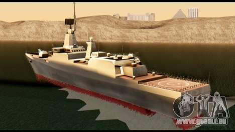 Admiral Sergey Gorshkov für GTA San Andreas linke Ansicht