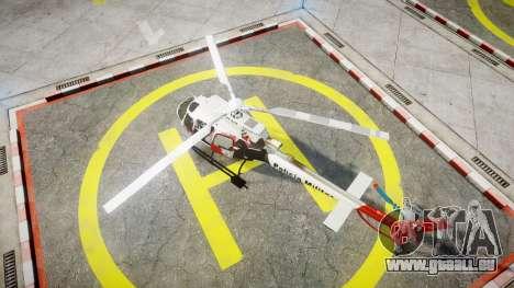 Eurocopter AS350 Ecureuil Aguia 11 PMESP pour GTA 4 Vue arrière de la gauche