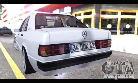 Mercedes Bad-Benz 190E (34 DDK 82) für GTA San Andreas rechten Ansicht