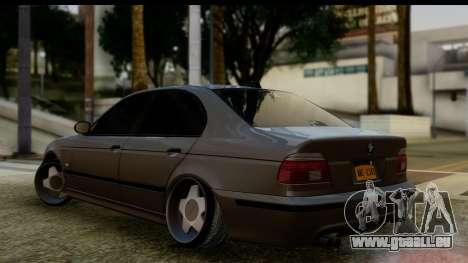 BMW M5 E39 pour GTA San Andreas laissé vue