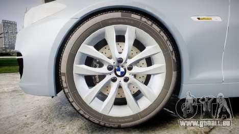 BMW 525d F11 2014 Facelift [ELS] Unmarked pour GTA 4 Vue arrière