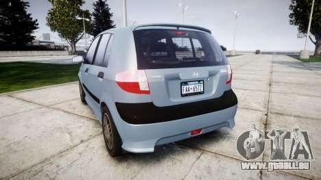 Hyundai Getz 2006 for ENB für GTA 4 hinten links Ansicht