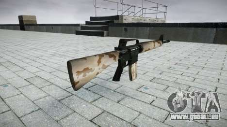 Le M16A2 fusil sahara pour GTA 4 secondes d'écran