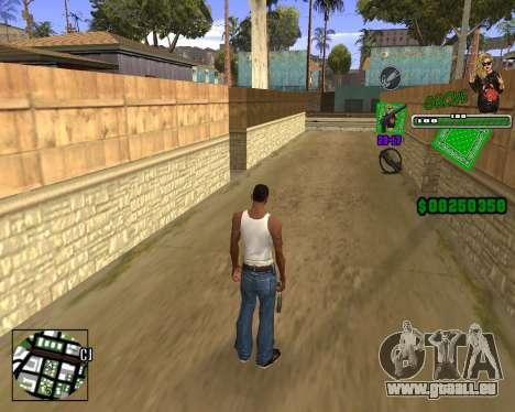 C-HUD Grove St. für GTA San Andreas dritten Screenshot