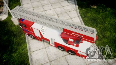 Scania R580 Dutch Fireladder [ELS] für GTA 4 rechte Ansicht