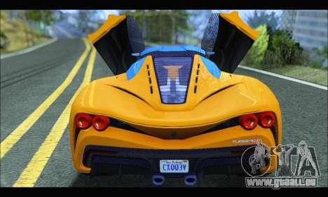 Grotti Turismo R v2 (GTA V) (IVF) pour GTA San Andreas vue de droite
