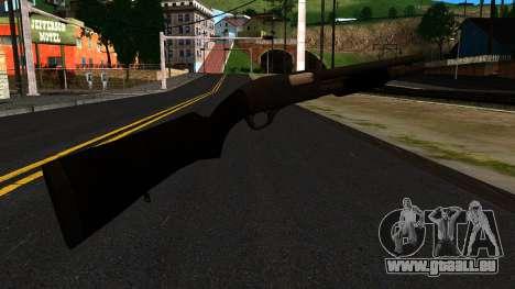 Schwarz MP-133 Ohne Glanz für GTA San Andreas zweiten Screenshot