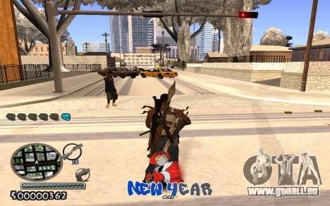 C-HUD New Year pour GTA San Andreas troisième écran