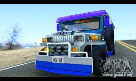 Light Jeepney für GTA San Andreas Innenansicht