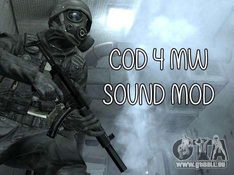 COD MW Sound Mod für GTA San Andreas