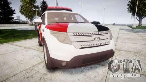 Ford Explorer 2013 Police Forca Tatica [ELS] pour GTA 4