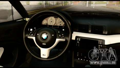 BMW M3 E46 TSK pour GTA San Andreas vue de droite