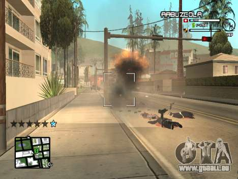 CLEO HUD by SampHack v.20 für GTA San Andreas her Screenshot