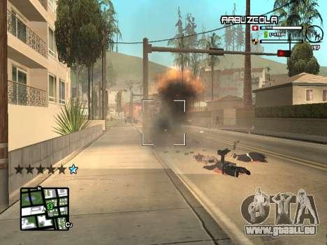 CLEO HUD by SampHack v.20 pour GTA San Andreas quatrième écran