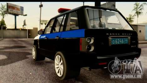 Land Rover ДПС pour GTA San Andreas laissé vue