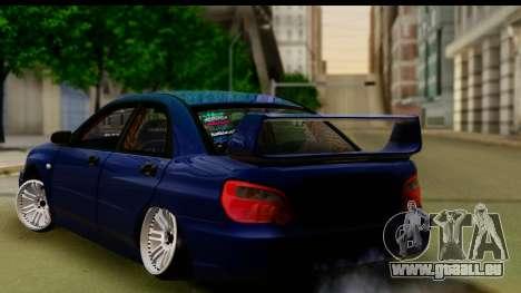 Subaru Impreza für GTA San Andreas linke Ansicht