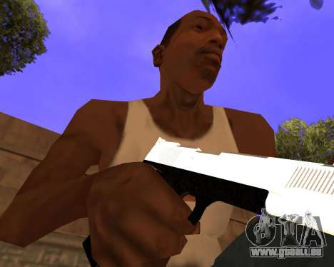 White Chrome Gun Pack für GTA San Andreas