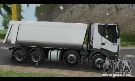Iveco Trakker 2014 Tipper Snow pour GTA San Andreas laissé vue