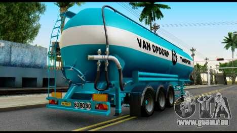 Mercedes-Benz Actros Trailer VAN OPDORP für GTA San Andreas linke Ansicht