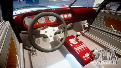 BMW 3.0 CSL Group4 pour GTA 4 est une vue de l'intérieur