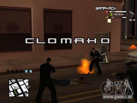 С-HUD par SampHack v. 21 pour GTA San Andreas deuxième écran