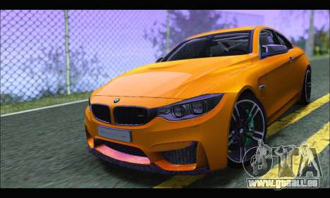 BMW M4 F80 Coupe 1.0 2014 pour GTA San Andreas