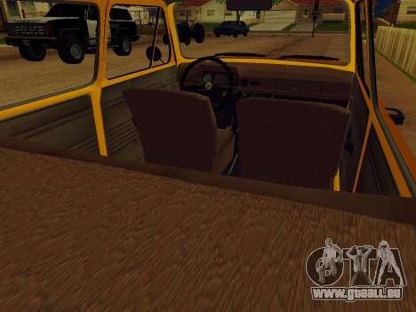 ZAZ 968 für GTA San Andreas Rückansicht