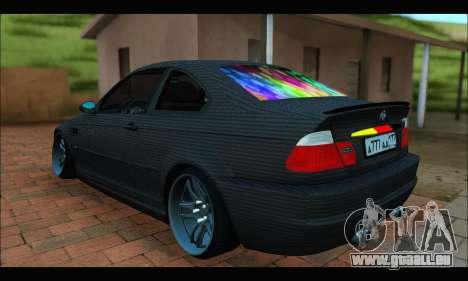 BMW M3 E46 Carbon pour GTA San Andreas laissé vue