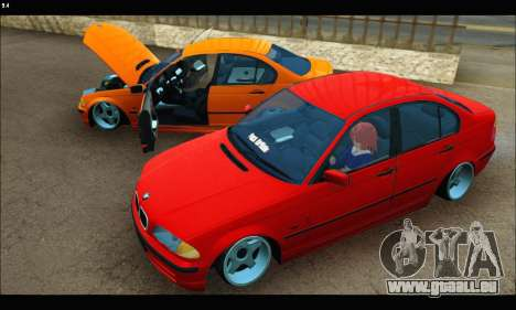 BMW e46 Sedan pour GTA San Andreas vue intérieure